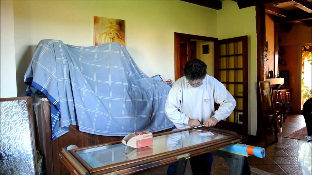 Fabrication de verre avec motif, dalle de sol